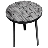 Edmonton 18 inch Gray Washed and Matte Gray Side Table Home Decor
