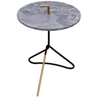 Concord 17 inch Black and Gold Accent Table Home Decor