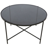 Blaine 35 X 20 inch Black Powdercoat Coffee Table, Large