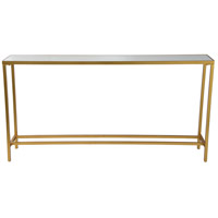 Havana 60 inch Gold Leaf Console Table, Medium