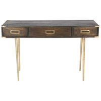 Renwil TA272 Josephine 48 inch Grey Wood and Antique Brass Desk, Medium