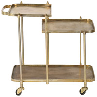 Vista Antique Brass Bar Cart, Small