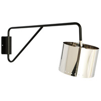 Gilbert 1 Light 11 inch Silver Plated and Black Powder Coated Wall Sconce Wall Light