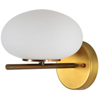 Acai LED 8 inch White and Antique Brass Wall Sconce Wall Light, Small