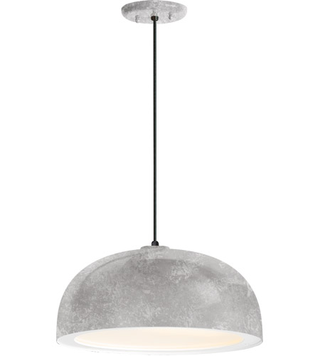 Troy RLM Lighting 5DDM14MGAWT-BC Dome 1 Light 14 inch Galvanized Pendant Ceiling Light, Gloss White Glass Solite Diffuser, Modern Visions photo thumbnail