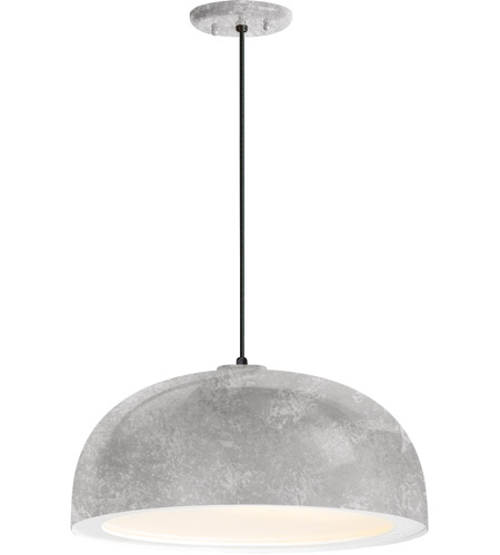 Troy RLM Lighting 5DDM16MGAWT-BC Dome 1 Light 16 inch Galvanized Pendant Ceiling Light, Gloss White Glass Solite Diffuser, Modern Visions photo thumbnail