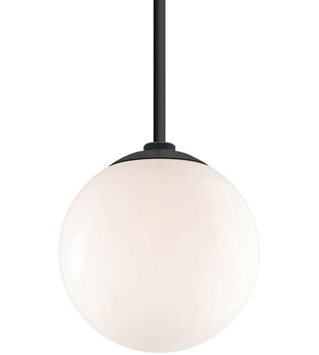 Troy Rlm Lighting Gl12mbk2hs24bk Globe 1 Light 12 Inch Gloss Black Pendant Ceiling