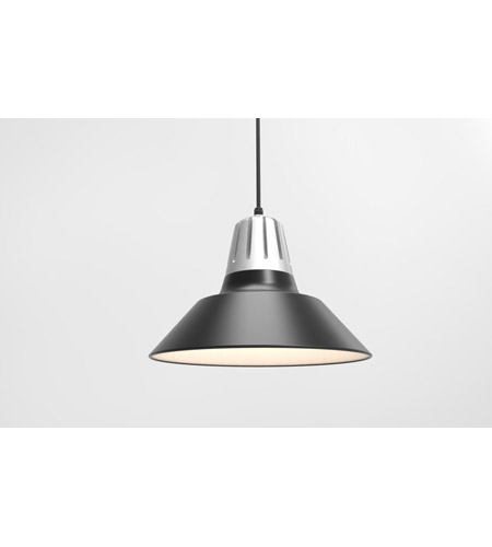 Troy RLM Lighting 5DHM18MBKPNA-BC Heavy Metal 1 Light 18 inch Painted Natural Aluminum Pendant Ceiling Light photo thumbnail