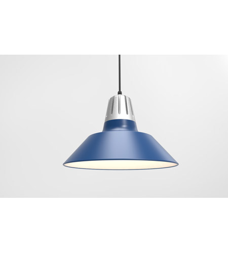 Troy RLM Lighting 5DHM20MBLUPNA-BC Heavy Metal 1 Light 20 inch Painted Natural Aluminum Pendant Ceiling Light photo thumbnail