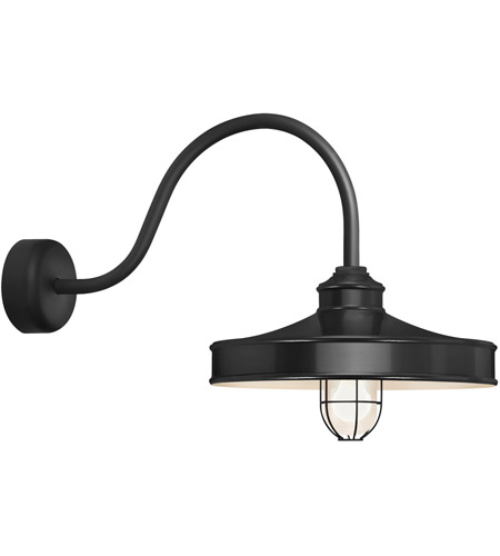 Troy RLM Lighting NC16MFGGBK3LL30 Nostalgia 1 Light 16 inch Black Wall Sconce Wall Light in 30in Arm, Frosted Glass, RLM Classics photo thumbnail