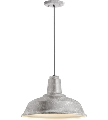 galvanized lighting. Troy RLM Lighting 5DRH16MGA-BC Heavy Duty 1 Light 16 Inch Galvanized  Pendant Ceiling Galvanized Lighting