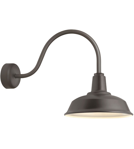 Troy RLM Lighting RH16MTBZ3LL23 Heavy Duty 1 Light 16 inch Textured Bronze Wall Sconce Wall Light in 23in Arm, RLM Classics photo thumbnail