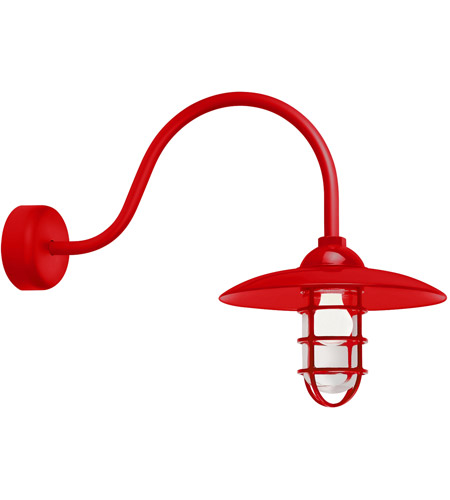 Red Retro Industrial Wall Sconces