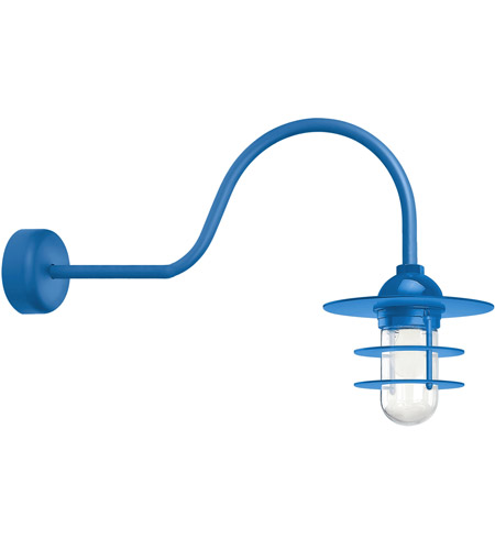 Blue Aluminum Retro Industrial Wall Sconces