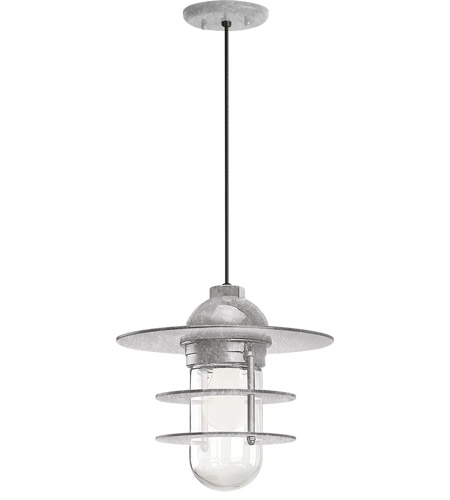 Troy RLM Lighting Galvanized Glass Pendants
