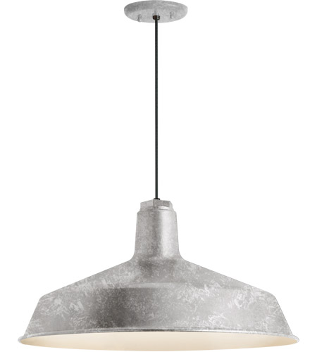 Troy Rlm Lighting 5drs16mga Bc Standard 1 Light 16 Inch Galvanized Pendant Ceiling Clics