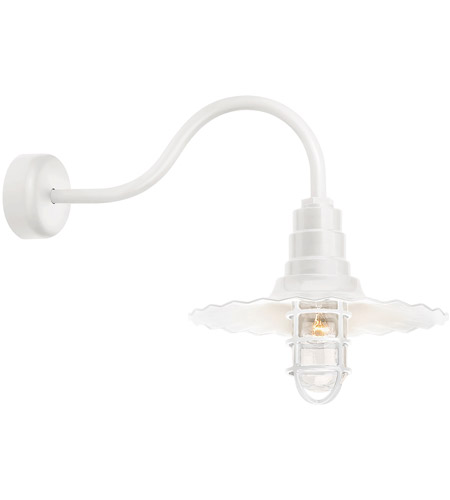Gloss White Radial Wave Wall Sconces