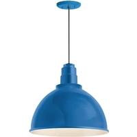 Troy RLM Lighting 5DRD12MBLU-BC Deep Reflector 1 Light 12 inch Blue Pendant Ceiling Light RLM Classics