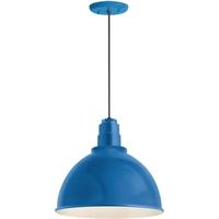 Troy RLM Lighting 5DRD16MBLU-BC Deep Reflector 1 Light 16 inch Blue Pendant Ceiling Light RLM Classics