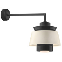 Aero LED 14 inch Black Wall Sconce Wall Light in 18in Arm, Semi Gloss White, Modern Visions
