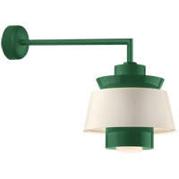 Aero LED 14 inch Hunter Green Wall Sconce Wall Light in 18in Arm, Semi Gloss White, Modern Visions