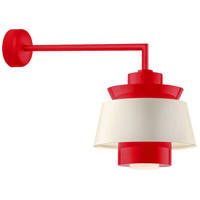 Aero LED 14 inch Red Wall Sconce Wall Light in 18in Arm, Semi Gloss White, Modern Visions