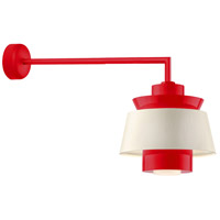 Aero LED 14 inch Red Wall Sconce Wall Light in 30in Arm, Semi Gloss White, Modern Visions