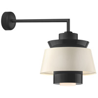 Aero LED 16 inch Black Wall Sconce Wall Light in 18in Arm, Semi Gloss White, Modern Visions