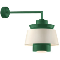 Aero LED 16 inch Hunter Green Wall Sconce Wall Light in 18in Arm, Semi Gloss White, Modern Visions