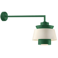 Aero LED 16 inch Hunter Green Wall Sconce Wall Light in 30in Arm, Semi Gloss White, Modern Visions