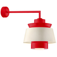 Aero LED 16 inch Red Wall Sconce Wall Light in 18in Arm, Semi Gloss White, Modern Visions
