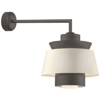 Aero LED 16 inch Textured Bronze Wall Sconce Wall Light in 18in Arm, Semi Gloss White, Modern Visions