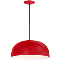 Troy RLM Lighting 5DDM16MRDWT-BC Dome 1 Light 16 inch Red Pendant Ceiling Light Gloss White Glass Solite Diffuser Modern Visions