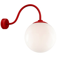 Globe 1 Light 12 inch Red Wall Mount Wall Light