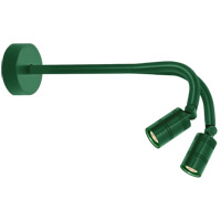 Bullet Head LED 15 inch Hunter Green Wall Sconce Wall Light, LS Series LED, 18in Arm, Double Head