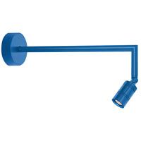 Troy RLM Lighting LBLEDBLU3LBM018 Bullet Head LED 2 inch Blue Wall Sconce Wall Light, LS Series LED, 18in Arm