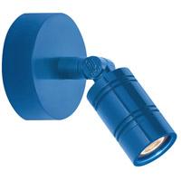 Troy RLM Lighting LBLEDBLU3LBMNP Bullet Head 8 inch 14 watt Blue Wall Monopoint Wall Light LS Series LED