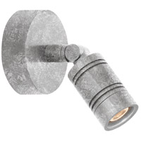 Bullet Head 8 inch 14 watt Galvanized Wall Monopoint Wall Light, LS Series LED