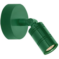 Bullet Head 8 inch 14 watt Hunter Green Wall Monopoint Wall Light, LS Series LED