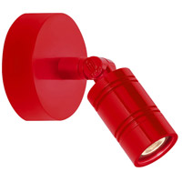 Bullet Head 8 inch 14 watt Red Wall Monopoint Wall Light, LS Series LED