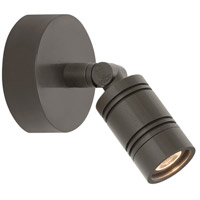 Bullet Head 8 inch 14 watt Textured Bronze Wall Monopoint Wall Light, LS Series LED
