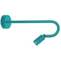 Troy RLM Lighting LBLEDTTL3LBU018 Bullet Head LED 2 inch Tahitian Teal Wall Sconce Wall Light LS Series LED 18in Arm