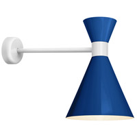 Troy RLM Lighting MC10MBLUWT2MCA18WT Mid Century 1 Light 10 inch Blue and Gloss White Wall Mount Wall Light