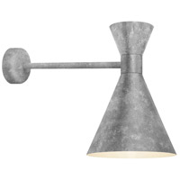 Troy RLM Lighting MC10MGAGA2MCA18GA Mid Century 1 Light 10 inch Galvanized Wall Mount Wall Light