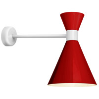 Troy RLM Lighting MC10MRDWT2MCA18WT Mid Century 1 Light 10 inch Red and Gloss White Wall Mount Wall Light