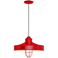 Troy RLM Lighting 5DNC14MFGGRD-BC Nostalgia 1 Light 14 inch Red Pendant Ceiling Light Frosted Glass RLM Classics