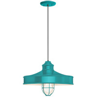 Troy RLM Lighting 5DNC14MFGGTTL-BC Nostalgia 1 Light 14 inch Tahitian Teal Pendant Ceiling Light Frosted Glass RLM Classics