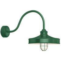 Nostalgia 1 Light 16 inch Hunter Green Wall Sconce Wall Light in 23in Arm, Frosted Glass, RLM Classics