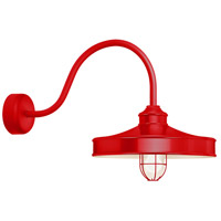 Nostalgia 1 Light 16 inch Red Wall Sconce Wall Light in 30in Arm, Frosted Glass, RLM Classics