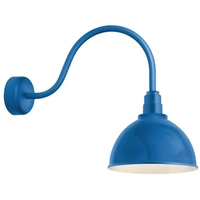 Blue Aluminum Deep Reflector Wall Sconces